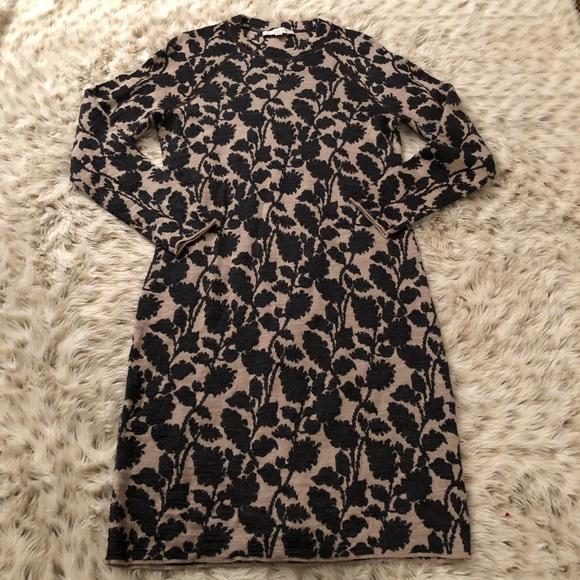 2d217e5f22f LOFT Dresses   Skirts - Ann Taylor loft Wool floral sweater dress